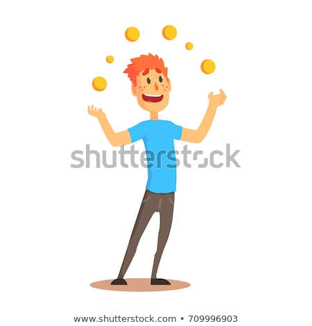 Funny man juggling balls Stock photo © bluering