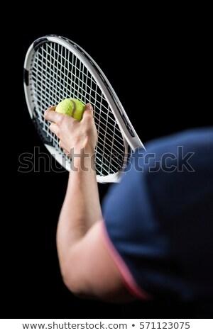 Atlet tenis hazır kadın spor Stok fotoğraf © wavebreak_media