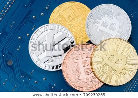 Circuits Of Value - Virtual Currency Coin Image. Stock photo © tashatuvango