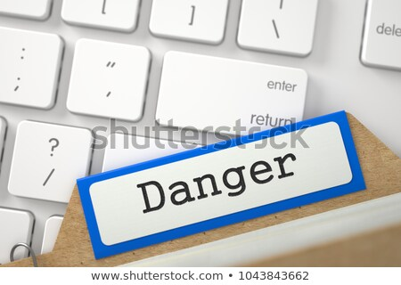 Sort Index Card with Danger. 3d Stock photo © tashatuvango
