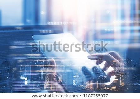 Technológia digitális interfész globális háló kapcsolatok Stock fotó © alexaldo