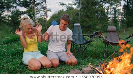 Close up of kindling at campsite Stock photo © IS2