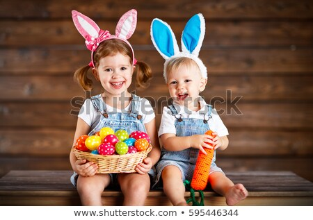 Easter Bunny tuin leuk cute emmer Stockfoto © IS2