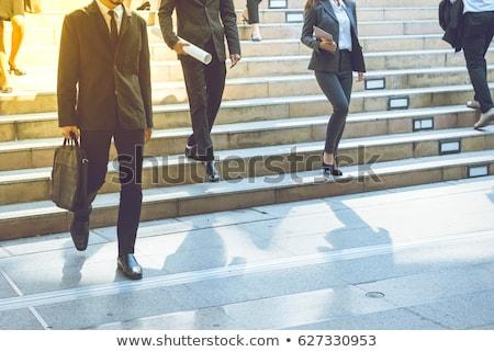 группа бизнесменов скалолазания вниз лестницы служба Сток-фото © wavebreak_media