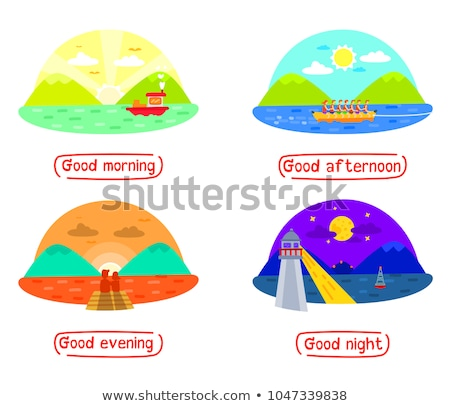 four different nature day and night scene stock photo © bluering