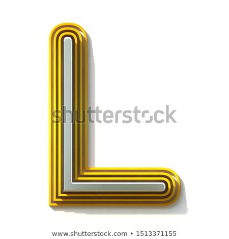 Drie stappen doopvont letter l 3D 3d render Stockfoto © djmilic