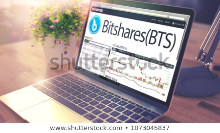 The Dynamics of Cost of BITSHARES on the Laptop Screen. 3d Stock photo © tashatuvango