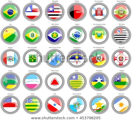 Brazylia · banderą · wyschnięcia · ziemi · ziemi · tekstury - zdjęcia stock © grafvision