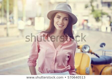 Vintage moda kobieta elegancki dziewcząt 1950 Zdjęcia stock © Terriana