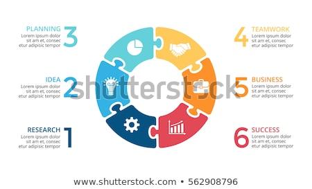 красочный · головоломки · четыре · вместе · номера · бизнеса - Сток-фото © orson