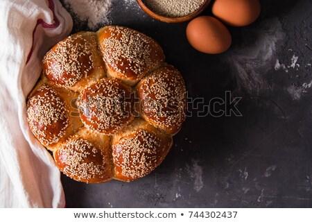 Saboroso croissant colher comida Foto stock © bdspn