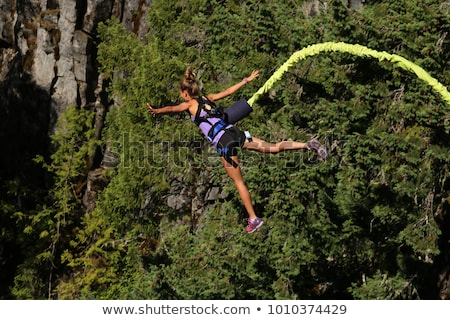 girl bungee jumping Stock photo © adrenalina