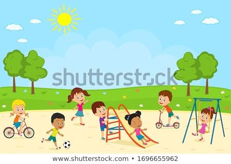 the little girl in a park stock photo © sharpner