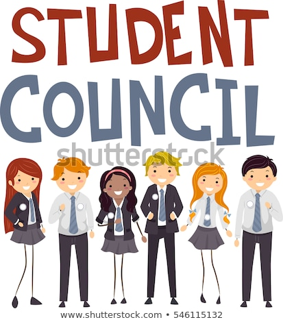 Student Council Stickman Teen Uniform Stock photo © lenm