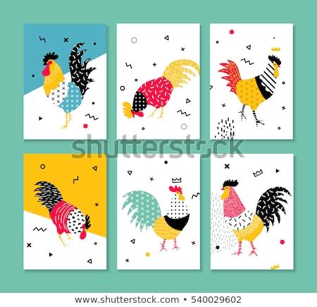 memphis style cards 1 Stock photo © Genestro