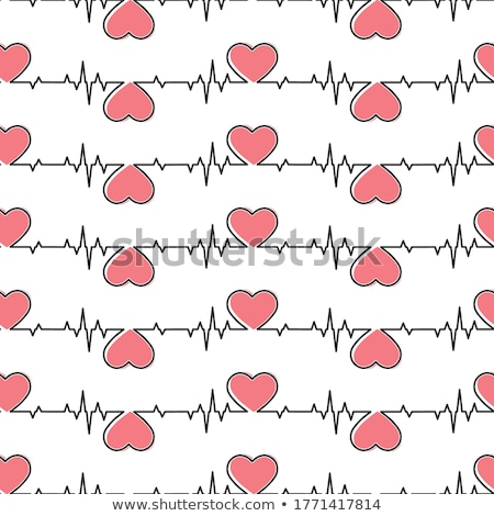 Coeur cardiogramme signe vert organique Photo stock © robuart