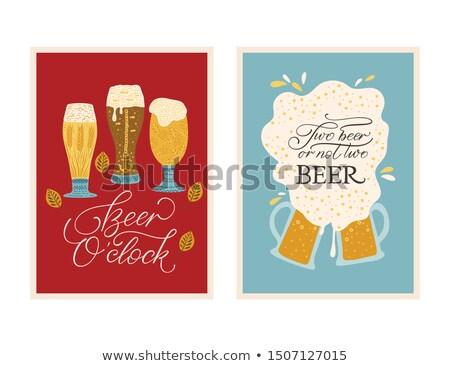 oktoberfest · cerveza · festival · texto · ilustración · vector - foto stock © orensila