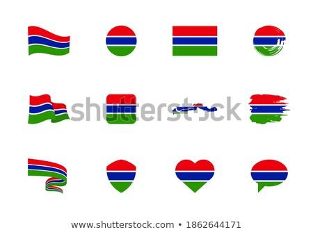 Gambia flat heart flag Stock photo © Amplion