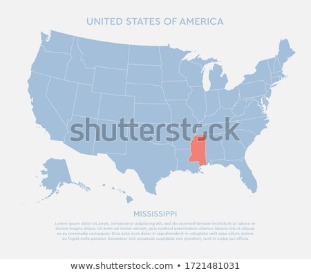 Map of the U.S. state of Mississippi on a white background. Stock photo © kyryloff
