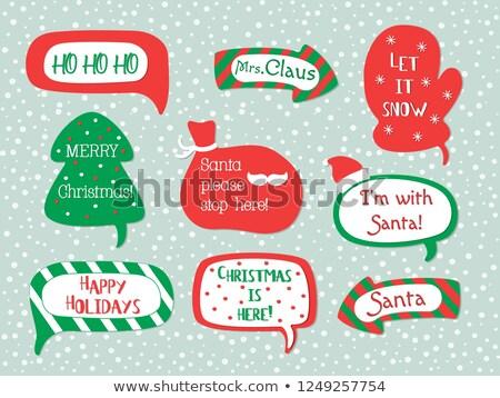 Stok fotoğraf: Noel · konuşma · balonu · ayarlamak · beyaz · eğim