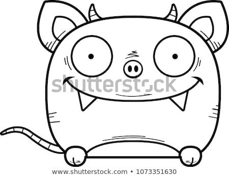 Cartoon illustratie weinig jonge dier monster Stockfoto © cthoman
