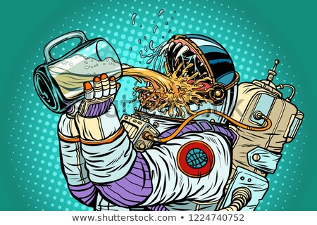 Astronaut mutant, thirst for beer Stock photo © studiostoks