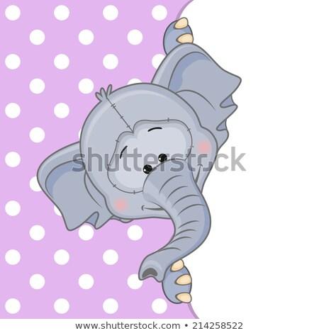 Cartoon Elephant Peeking Stock photo © cthoman