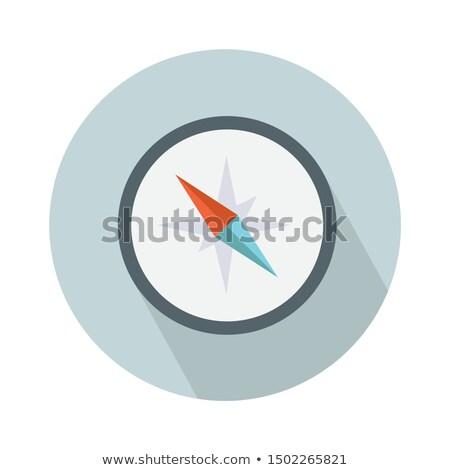 Brújula icono vector aislado blanco Foto stock © smoki