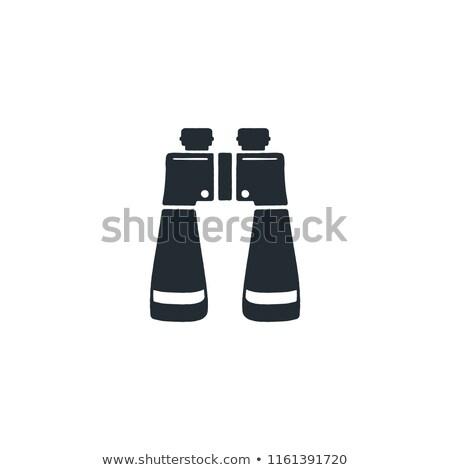Silhouette Symbol camping Wandern Ausrüstung Symbol Stock foto © JeksonGraphics