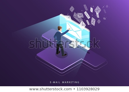 Mail marketing strategy promotion campaign Stock photo © jossdiim