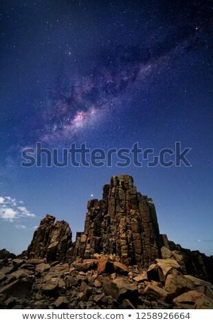 Mleczny sposób wszechświata Australia gwiazdki nieba Zdjęcia stock © lovleah
