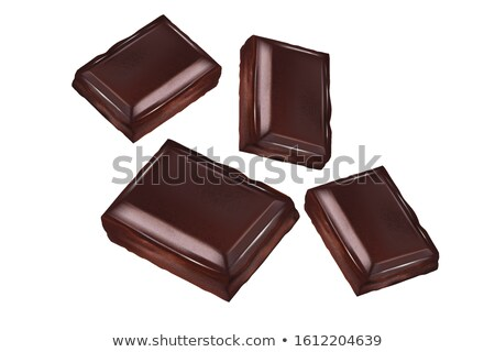 Oscuro dulce chocolate marco sabroso líquido Foto stock © Anna_Om