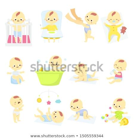Gyerek fiú pisi illusztráció tart gyermek Stock fotó © lenm