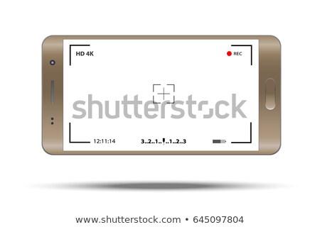Witte telefoon camera sjabloon smartphone Stockfoto © romvo