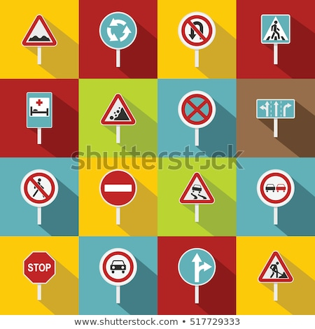 set of realistic traffic lights for cars and pedestrians stock photo © marysan