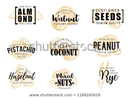 almond letter a logo vector icon symbol Stock photo © blaskorizov