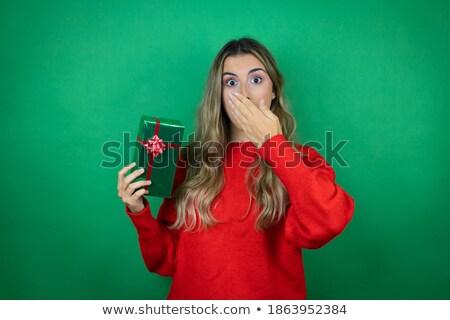 手 · 美しい · ギフトボックス · 女性 · ギフト - ストックフォト © deandrobot