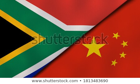 Two waving flags of China and south africa Stock photo © MikhailMishchenko