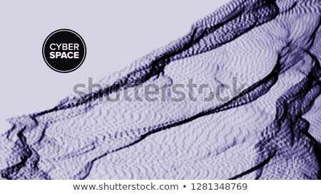 Abstract Background Vector. Terrain Surface. Cyberspace Grid. Lattice Structure. Brochure, Poster. I Stock photo © pikepicture