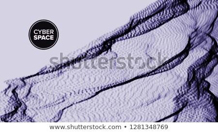 Absztrakt vektor terep felület kibertér hálózat Stock fotó © pikepicture