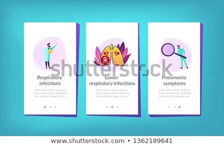 снизить дыхательный приложение интерфейс шаблон врач Сток-фото © RAStudio