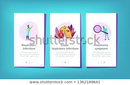 Lower respiratory infections app interface template. Stock photo © RAStudio