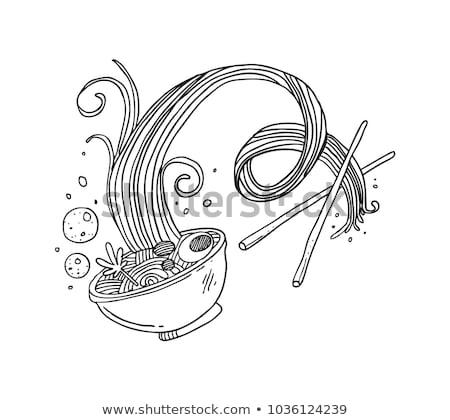 ボウル 麺 手描き スケッチ アイコン ストックフォト © RAStudio