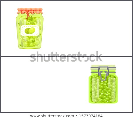 Preserved Food Banners with Olives and Grapes Stock photo © robuart