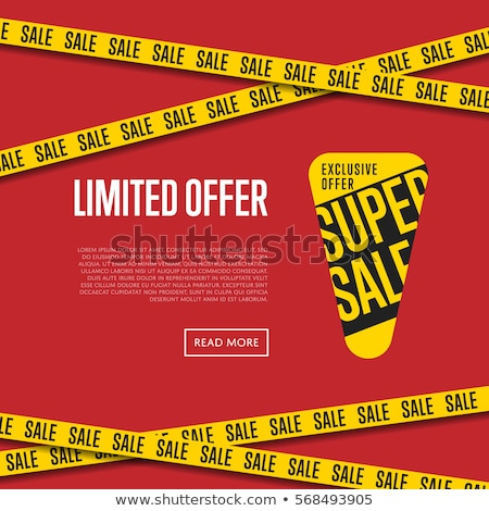 Exclusive Price Offer Posters Vector Illustration Stock photo © robuart