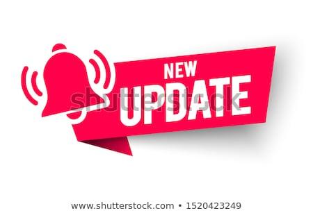 Aktualizacja tekst nowoczesne laptop ekranu biuro Zdjęcia stock © Mazirama