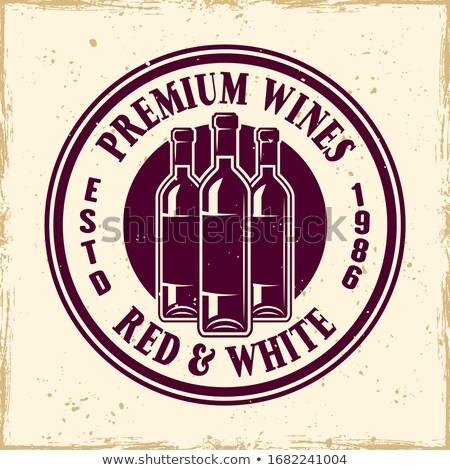 vintage · handgemaakt · rum · bar · label · embleem - stockfoto © netkov1