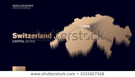 Police outline isometric pattern Stock photo © netkov1