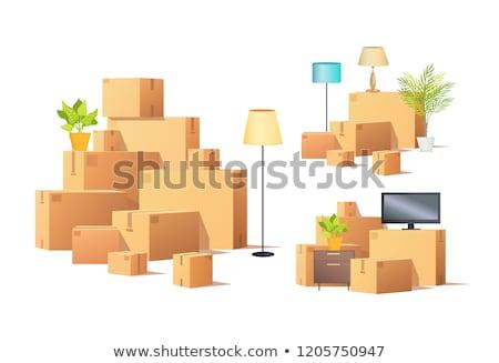 移動 外に カートン ボックス 家具 ベクトル ストックフォト © robuart
