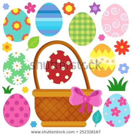 conjunto · vetor · ovos · de · páscoa · páscoa · ovo · vermelho - foto stock © clairev
